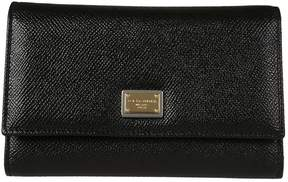 Dolce & Gabbana Dauphine Snap Wallet - NERO - STYLE