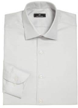 Saks Fifth Avenue 611 New York Horizontal Fine Striped Dress Shirt