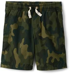 Lands' End Lands'end Boys Husky Pull On Camo Shorts