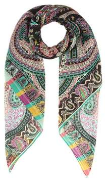 Etro Wool and silk printed scarf