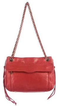 Rebecca Minkoff Leather Shoulder Bag - RED - STYLE