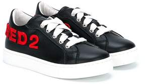 DSQUARED2 patch-appliquéd sneakers