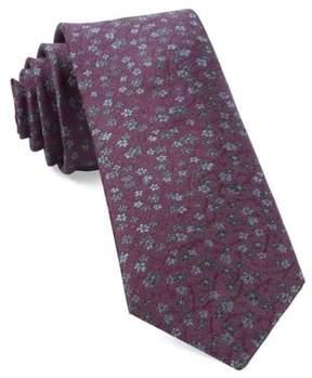 The Tie Bar Floral-Print Silk Tie