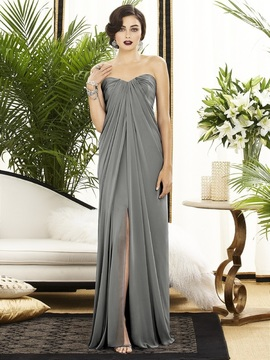 Dessy Collection - 2879 Dress in Charcoal Gray