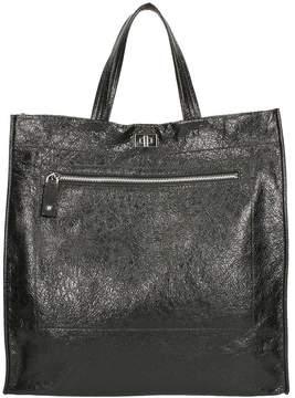 Valentino Black Hammered Leather Bag