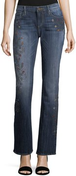 Driftwood Kelly Embroidered Boot-Cut Jeans