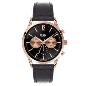 Richmond Henry London - Men's 41mm Chronograph Leather Watch