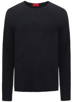 HUGO Boss Cotton Blend Boucle Sweater Solerino M Black