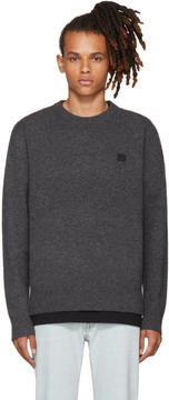 Acne Studios Grey Nalon Face Sweater