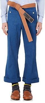 Loewe Men's Belted Flared Jeans