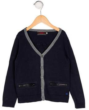 Catimini Boys' Knit V-Neck Cardigan