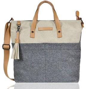 Sherpani Faith Boiled Wool Crossbody Tote - Grey