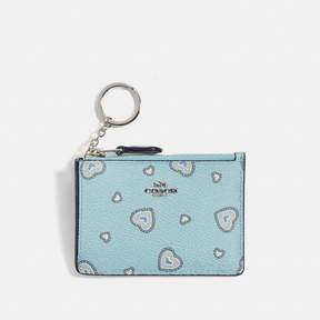 COACH Coach New YorkCoach Mini Skinny Id Case With Western Heart Print - LIGHT TURQUOISE WESTERN HEART/SILVER - STYLE