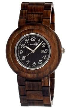 Earth Cambium Dark Brown Dial Brown Wood Unisex Watch