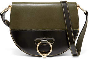 J.W.Anderson Latch Smooth And Textured-leather Shoulder Bag - Green
