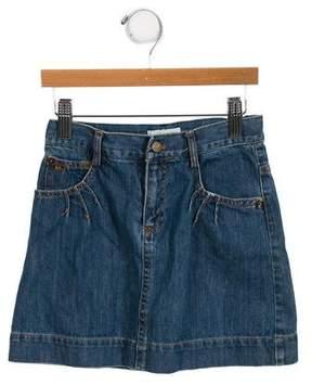 Little Marc Jacobs Girls' Denim A-Line Skirt