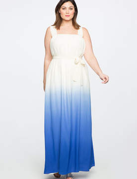ELOQUII Teresa for Silk Tie Dye Maxi Dress