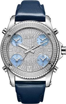 JBW Diamond Mens Silver Tone Strap Watch-J6354b