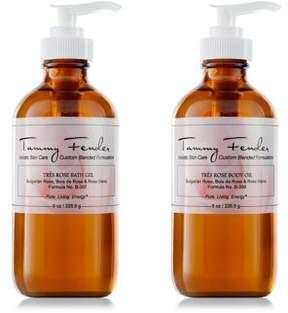 Tammy Fender Tres Rose Duo Bath Gel & Body Oil/8 oz.