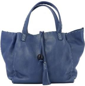 Blue Leather Handle Bag