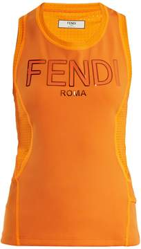 Fendi Logo-print performance tank top