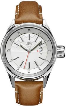 JBW Rook Mens Diamond-Accent Brown Leather Strap Watch J6287B
