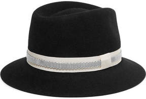 Lanvin Embellished Rabbit-felt Fedora - Black
