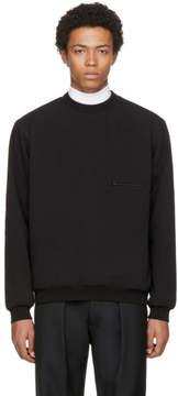 Lemaire Black Ribbed Sweatshirt