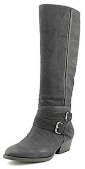 Kenneth Cole Womens Raw Deal Leather Almond Toe Knee High Fashion Boots Fashi....