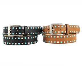 Neiman Marcus Embellished Faux-Leather Belt