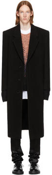 Raf Simons Black Long Vertical Pockets Coat