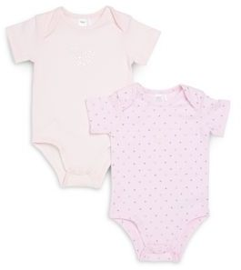 Petit Lem Baby's Cotton-Blend Bodysuits- Set of 2