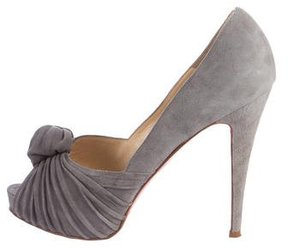 Christian Louboutin Greissimo 140 Suede Pumps