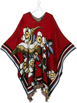 DSQUARED2 Teen eagle knit poncho