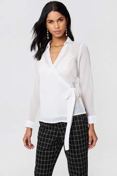 NA-KD Na Kd Wrap Over Chiffon Shirt