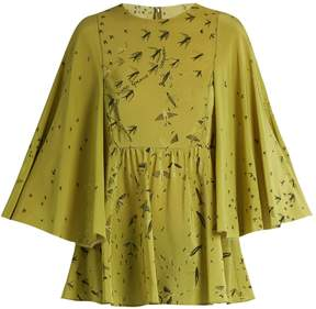 Valentino Swallow Metamorphosis-print silk top