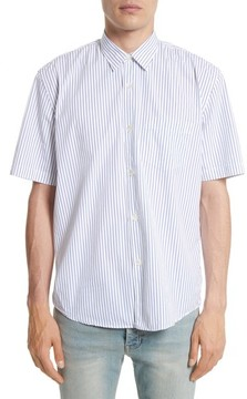 Our Legacy Men's Stripe Short Sleeve Sport Shirt