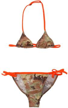 DSQUARED2 Sequined Camouflage Lycra Bikini