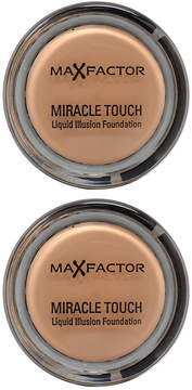 Max Factor Blushing Beige Miracle Touch Foundation - Set of Two