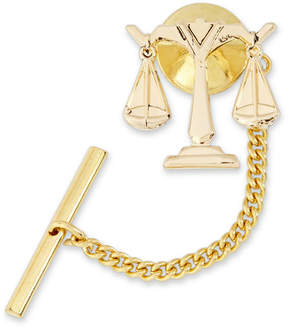 Asstd National Brand Scales of Justice Gold-Plated Tie Tack