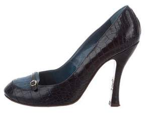 Marc Jacobs Round-Toe Alligator Pumps