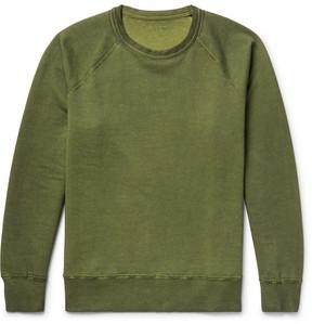 Our Legacy Reversible Overdyed Fleece-Back Cotton-Jersey Sweatshirt