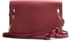 Roksanda Dia Leather Shoulder Bag - Womens - Burgundy Multi