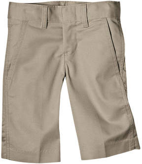 Dickies Boys Classic Fit Flex Waist Flat Front Short- Big Kid