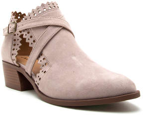 Qupid Taupe Rager Ankle Boot - Women