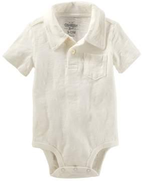 Osh Kosh Oshkosh Bgosh Baby Boy Slubbed Polo Bodysuit