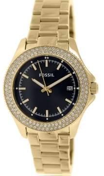 Fossil Women's Retro Traveler AM4520 Gold Stainless-Steel Quartz Watch
