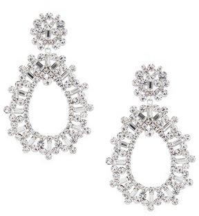 Cezanne Baguette Statement Drop Earrings