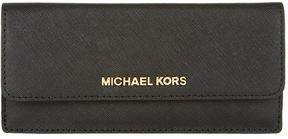 Michael Kors Jet Set Travel Flat Wallet - BLACK - STYLE