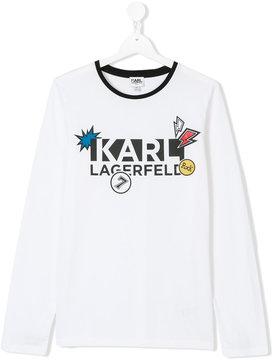 Karl Lagerfeld Teen logo print top